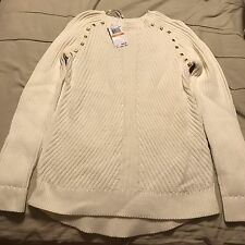 Nwt Petite Woman Michael Michael Kors Sweater Sz Ps In Red Or Cream $52.99 Each
