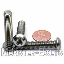 8mm - 1.25 x 40mm - Qty 10 - A2 Stainless Steel BUTTON HEAD Screws M8-1.25 x 40