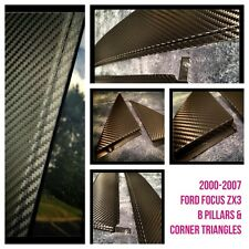Ford Focus 2000-2007 ZX3 Arlon Carbon Fiber B pillar+corner triangles (4 piece)