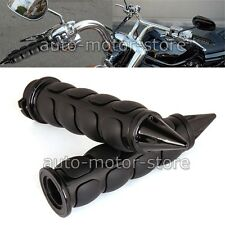 "MOTORCYCLE BLACK CNC 1"" HAND GRIPS HANDLE BAR FOR HARLEY DAVIDSON STREET GLIDE"