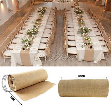 Long 10M*33CM Burlap Table Runners For Wedding Venue Party Tableware Decoration