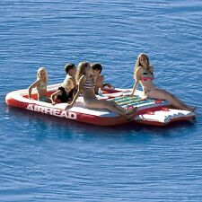 Inflatable Floating Island Airhead 6 Person Lake Pool Ocean Party Big Raft Water