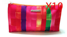 Lot of 10 x Clinique Cosmetic Makeup Bag Zipper Pouch Nordstrom Fall 14