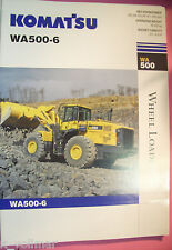 ✪ ancien original prospectus/sales brochure Komatsu wa 500-6 wheel Loader