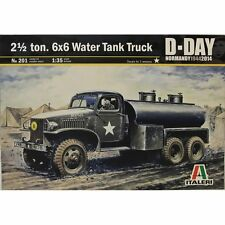 Italeri 1/35 201 2.5 TON 6X6 WATER TANK TRUCK MILITARY KIT