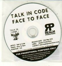 (DC959) Talk In Code, Face To Face - 2012 DJ CD