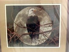 "Cross Stitch Kit Eagle in Moonlight Sunset by BarryChall 13688 14"" x 11"" New"