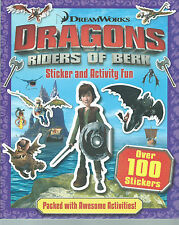 DRAGONS RIDERS OF BERK STICKER AND ACTIVITY BOOK - OVER 100 STICKERS FREE P/P