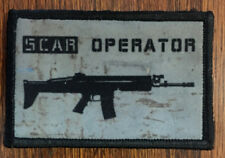 SCAR Operator Morale Patch Tactical Molle Milspec Hand printed in the USA