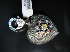 MARIANA HEART CHARM PENDANT SWAROVSKI CRYSTALS KEY CHAIN RING BAG CHRISTMAS
