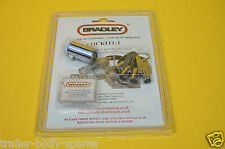 FREE 1st Class Post - Genuine Bradley Double Lock Hitch Lock & 4 Keys - Trailer