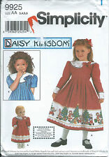 "S 9925 sewing pattern Daisy Kingdom DRESS pleated & 18"" Doll CLOTHES sew 3,4,5,6"