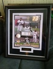 Baseball Barry Bonds Signed Ball, Ticket Giants Dodgers Record 73 HR, Shadow Box