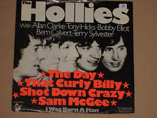 """THE HOLLIES -The Day That Curly Billy Shot Down Crazy Sam MC Gee- 7"""" 45"""