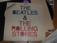 "LP 12"" FANTASTIC THE BEATLES AND ROLLING STONES AT THE RAREST JOKER ITALY VG+"