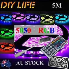 Waterproof 5050 RGB 5M 300 LEDS SMD LED Strip Light 12V IRController Car Boat