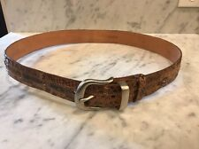 Tony Lama Men's Anaconda Snake Skin Belt 36