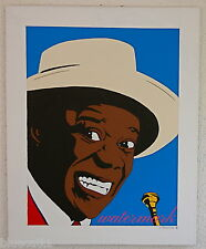 "LOUIS ARMSTRONG ORIGINAL CUSTOM PAINTING 20"" X 30 LOUIE ARMSTRONG ECLECTIC COOL"