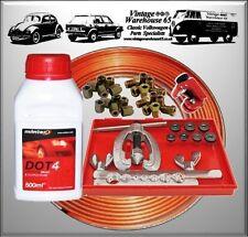 Mercedes Clásico Cobre Freno Pipa flarer Kit de reparación y líquido de frenos