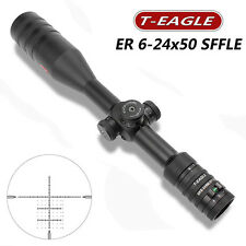 T-Eagle ER 6-24X50 Pre-Reticle Lateral Focus 30mm W/Level Riflescope FAST POST