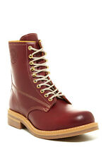 New Men's Diesel Skillo Oxblood Red Leather Ankle Boot / Shoes Size UK 9 EU 43