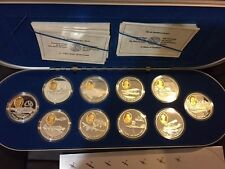 Complete Set of Aviation $20 Silver Coins with Gold Cameo