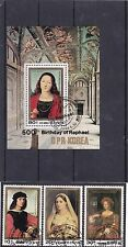 Korea 1984 500th Birthday of Raphael 2362-2364 2395 3 stamps Souvenir sheet