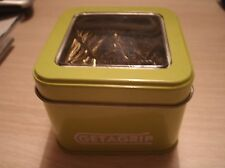 Get A Grip Hair Grips -Bobby Pins Blonde in a Lime Green Metal Tin