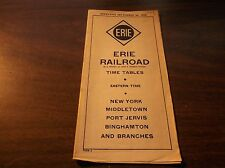 SPTEMBER 1939 ERIE RAILROAD FORM 2 NEW YORK STATE SERVICE PUBLIC TIMETABLE