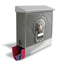 Edelstahl Briefkasten Burg-Wächter Zeitungsfach Postbox Eisentor Wandbriefkasten
