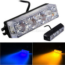 4 LED Car Truck Emergency Beacon Light Bar Hazard Strobe Warning Yellow/Blue
