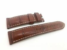 Brand New Panerai Brown Leather Band Strap Alligator Style