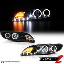 2003-2005 Mazda 6 Sedan Hatchback Wagon Black DRL Halo Projector Headlights SET