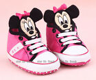 Baby Girl 3D Minnie Mouse Crib Shoes Toddler PreWalker Sneakers Size 0-18 Months