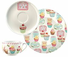 Creative Tops Retro Treats Cup Saucer and Side Plate Afternoon Tea Set Tableware