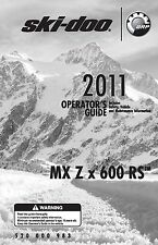 Ski-Doo owners manual book 2011 MX Z x 600 RS