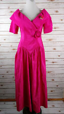 Vtg 80s 90s Pink Princess Dress 7/8 Cosplay Costume Formal Prom Drop Waist Gown