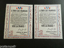 FRANCE  1964, VARIETE COULEURS/IMPRESSION, timbre 1408, DRAPEAUX, neufs** MNH