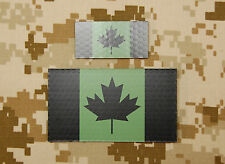 Canadian IR Green Flag Mini & Standard Patch Set JTF-2 CSOR CANSOFCOM Infrared