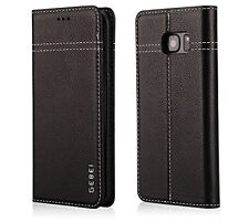 Samsung Galaxy S7 Case Cover Genuine Leather Folio Stand Wallet With Card Holder