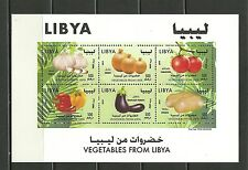 2014-Libya- Vegetables sheetlet of 6 stamps,MNH**