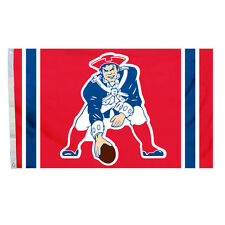 New England Patriots Authentic THROWBACK Vintage 3x5 Flag Indoor/Outdoor Banner