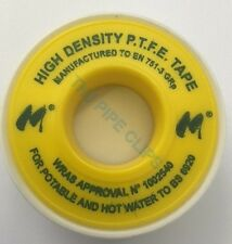 PTFE Tape GAS Tape for Thread Seal White Teflon Tape - 12mm wide 5m Long