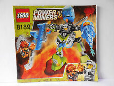 Lego Power Miners Bauanleitung/Instruction 8189 Magma Mech