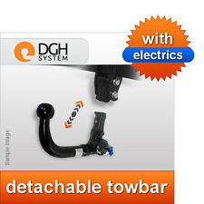 Detachable towbar (vertical) Toyota Auris SW estate 2013 onwards + electric kit