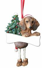 DACHSHUND-RED-Dangling Legs Dog Christmas Ornament by E&S Pets #13