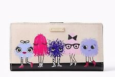 NEW KATE SPADE NEW YORK IMAGINATION MONSTER PARTY STACY WALLET