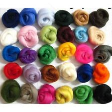 Set of 36 colors Merino Wool Fibre Wool Yarn Roving For Needle Felting Craft