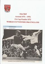 ALAN BALL ARSENAL 1971-1976 RARE ORIGINAL HAND SIGNED ANNUAL PICTURE CUTTING