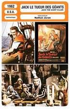 FICHE CINEMA : JACK LE TUEUR DE GEANTS - Mathews,Meredith 1962 The Giant Killer